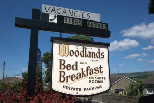 Woodland Bed and Breakfast Sign